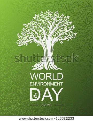 world environment day card or...