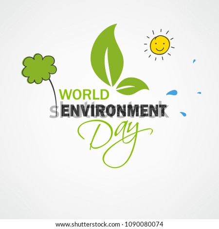 World Environment Day Concept, Doodle Design.