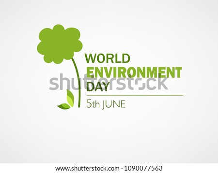 World Environment Day Concept, Template Design.