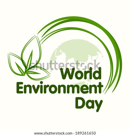 World environment day concept with beautiful green leaves on world map