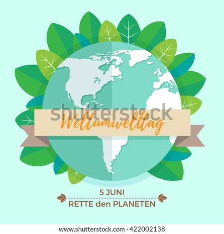 World Environment Day Concept With Mother Earth Globe And Green
