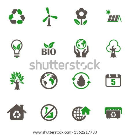 world environment day icons. set of 16 high quality world environment day vector icons in two color for web, mobile and user interface design