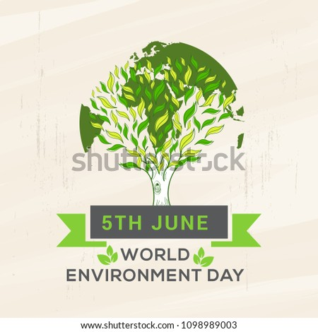 World Environment Day Poster Or Banner Background.