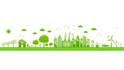 World environmental with sustainable development, Ecology friendly and green city concept,vector illustration