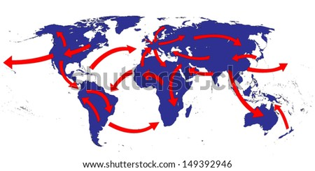 World Expansion Market Trade Routes Business Map