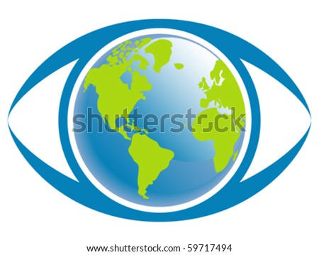 world eye vector