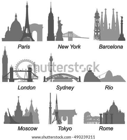 World Famous Cities Landmarks