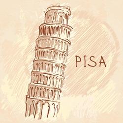 World famous landmark series: The Leaning Tower, Pisa, Italy, Europe