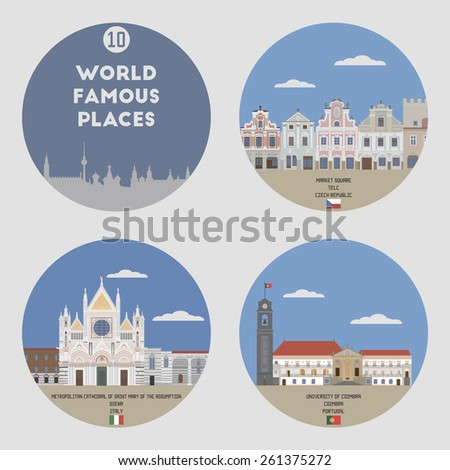 world famous places set 10