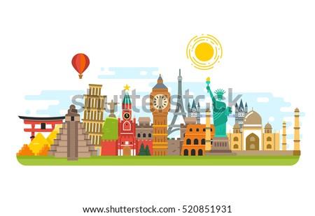 world famous travel landmark