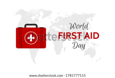 world first aid day vector