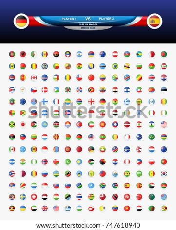 world flag vector illustration