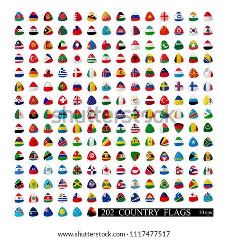 World flags all vector color isolated. Vector illustration 10 eps #1117477517