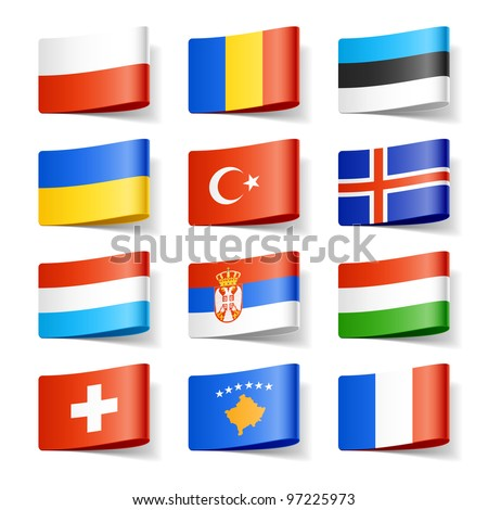 world flags europe vector