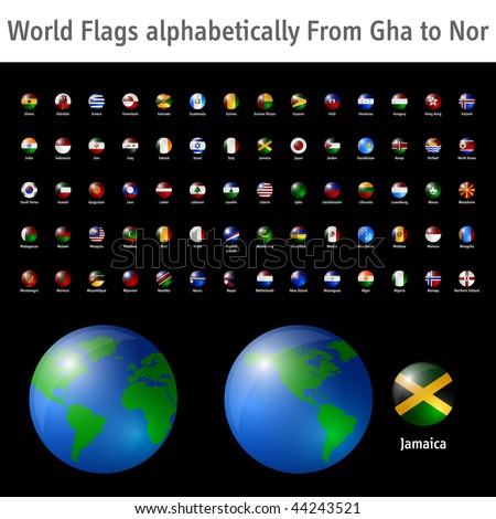 World flags from Gha to Nor EPS10 compatible