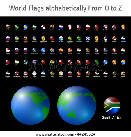 World flags from O to Z EPS10 compatible