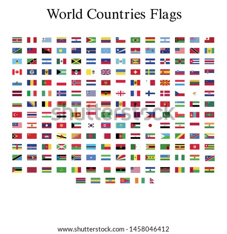 world flags illustrator vector file