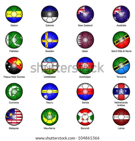World Flags in Footballs Pack 7