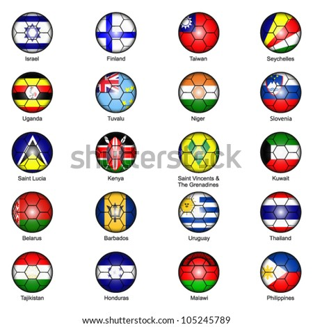 World Flags in Footballs Pack 5