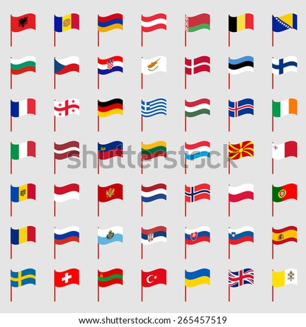 world flags on red pole part 2