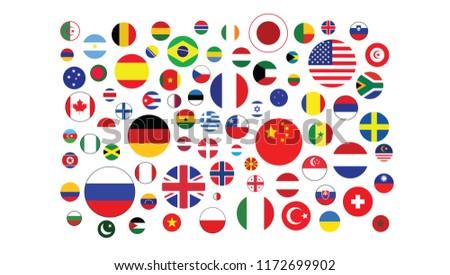 World flags pattern symbol texture circle