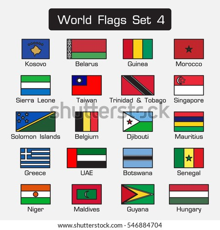 world flags set 4  simple