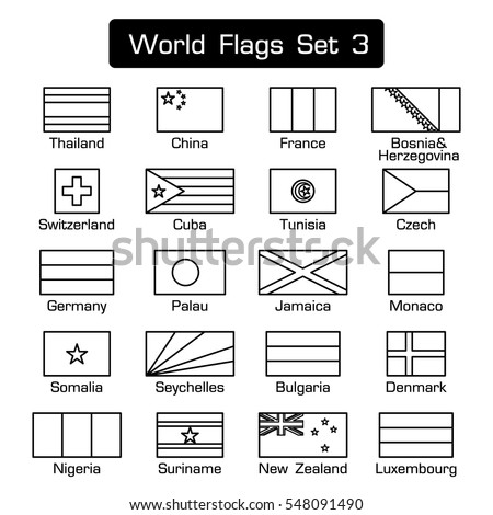 world flags set 3  simple