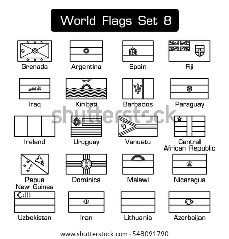 world flags set 8  simple