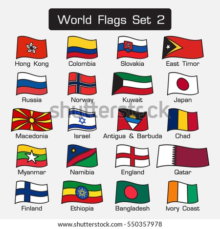 world flags set 2  simple