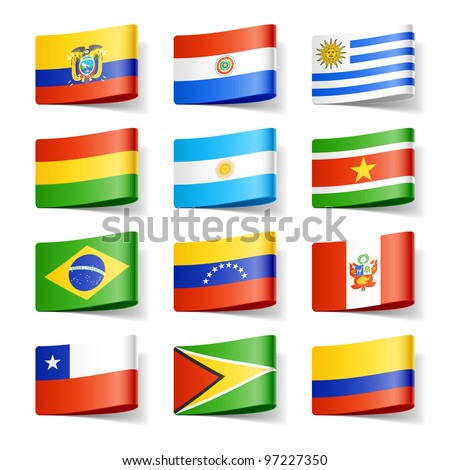 World flags. South America. Vector. #97227350