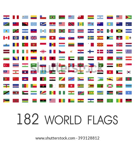 world flags vector graphics