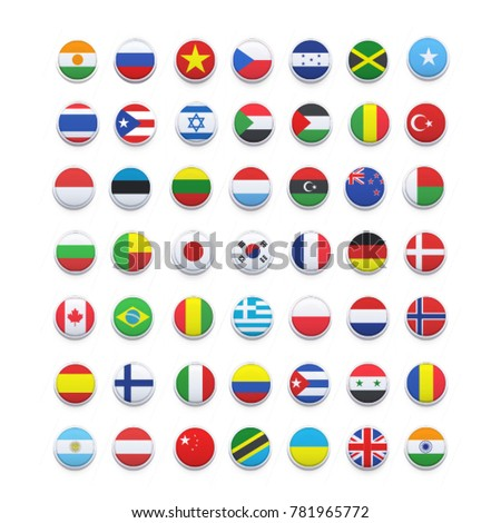 world flags . vector icon #781965772