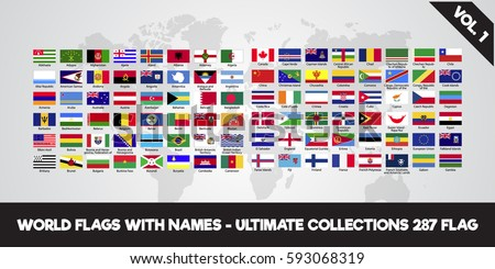 world flags with name. ultimate collection volume 1 eps.10