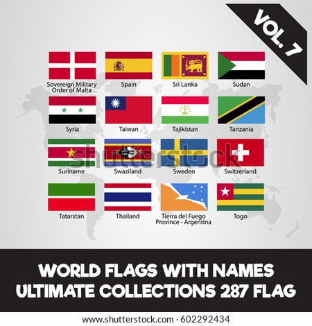 world flags with name ultimate