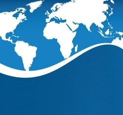 world flowing background