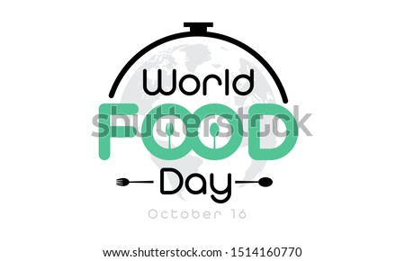 World Food day isolated on white background. Vector Illustration.
