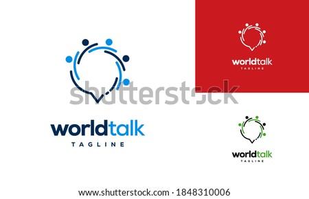 World Forum logo designs concept vector, World Talk logo symbol designs, Discuss symbol Stock photo ©