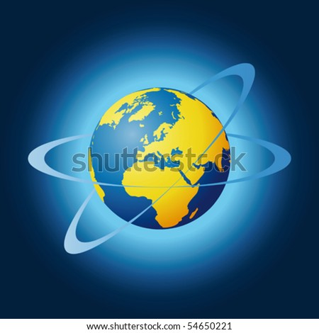 world globe - stock vector