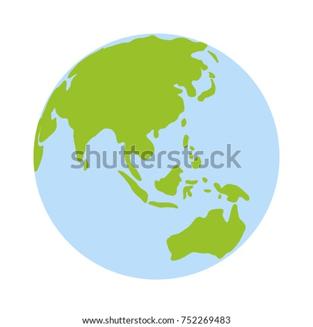 world globe icon vector earth