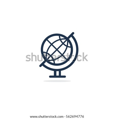 world globe icon  world vector