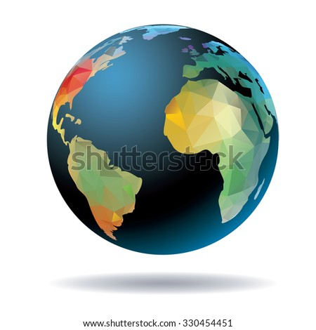 World globe vector illustration.