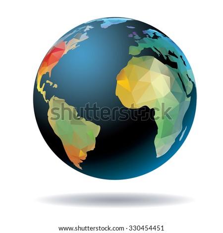 world globe vector illustration