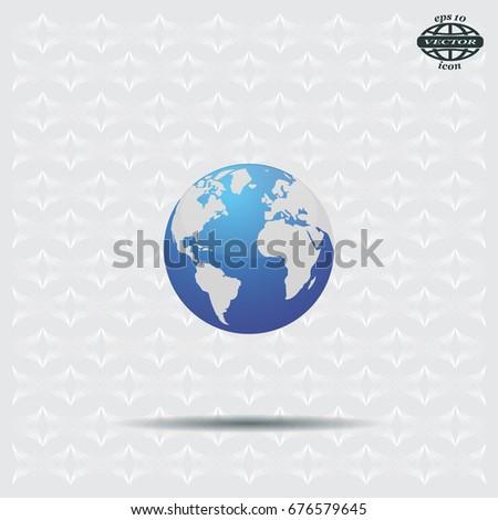 World globe vector illustration.
