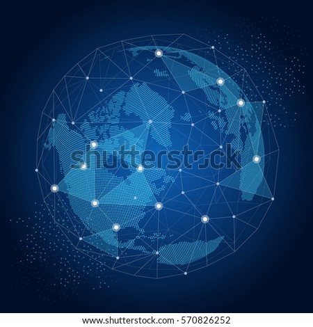 world globe with network global