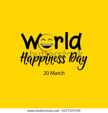 world happiness day vector