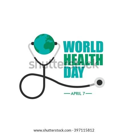 World Health Day Campaign Logo Icon Design Template. Earth Vector Illustration