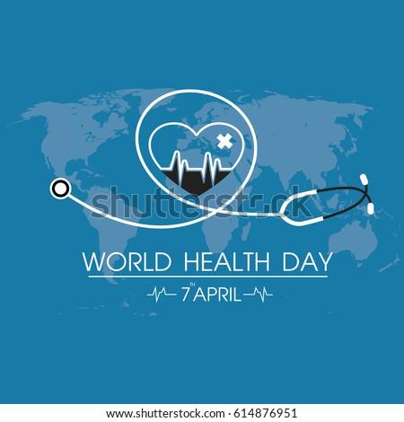 World Health Day Logo Icon Design Template. Vector Illustration