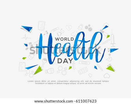 World Health Day Poster Or Banner Background.