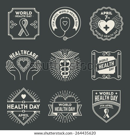 world health day retro design