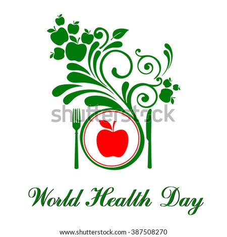 World health day. Vector illustration